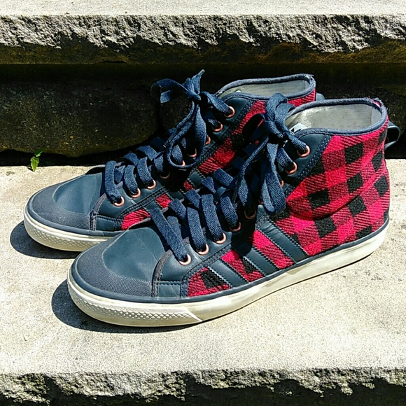 detailed look 7a402 e7aa7 adidas Other - Adidas Nizza Hi Top Plaid Mens Size 11